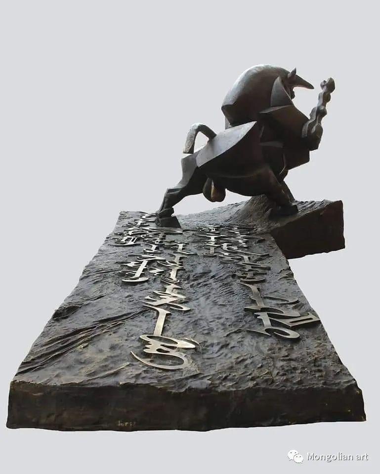 蒙古国美术家协会获奖艺术家,画家,雕塑家Adyaabazar Chadraabal 第56张