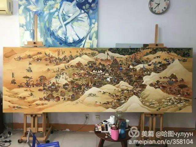 【文艺】蒙古国90后天才画家普日布苏仁作品欣赏(组图) 第10张