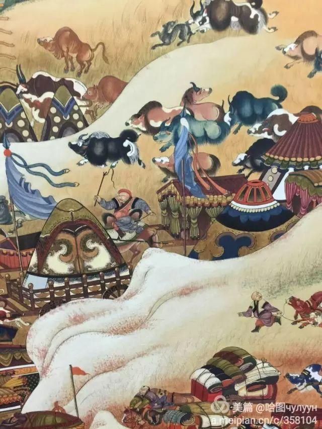 【文艺】蒙古国90后天才画家普日布苏仁作品欣赏(组图) 第16张