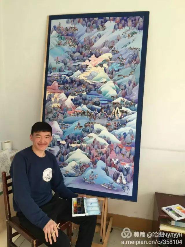 【文艺】蒙古国90后天才画家普日布苏仁作品欣赏(组图) 第19张