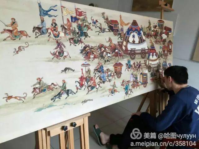 【文艺】蒙古国90后天才画家普日布苏仁作品欣赏(组图) 第25张