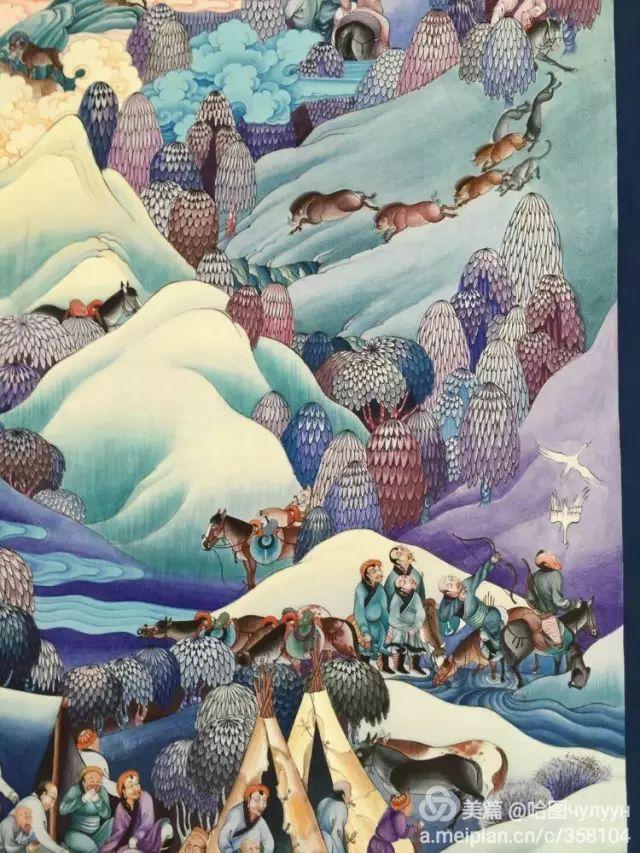 【文艺】蒙古国90后天才画家普日布苏仁作品欣赏(组图) 第22张
