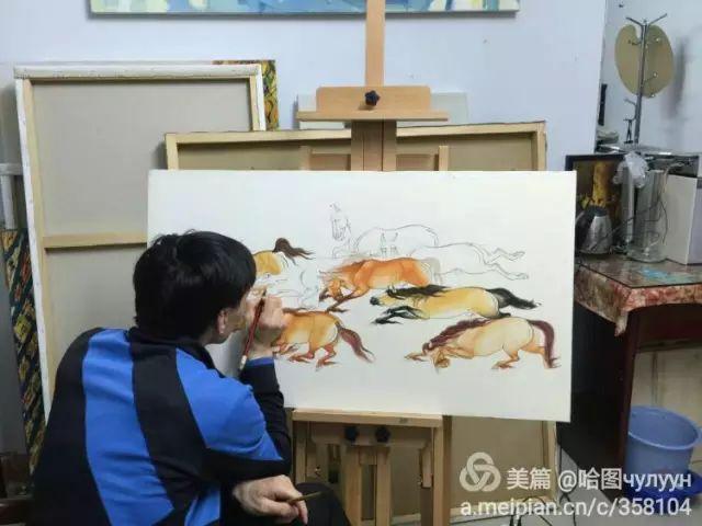【文艺】蒙古国90后天才画家普日布苏仁作品欣赏(组图) 第53张