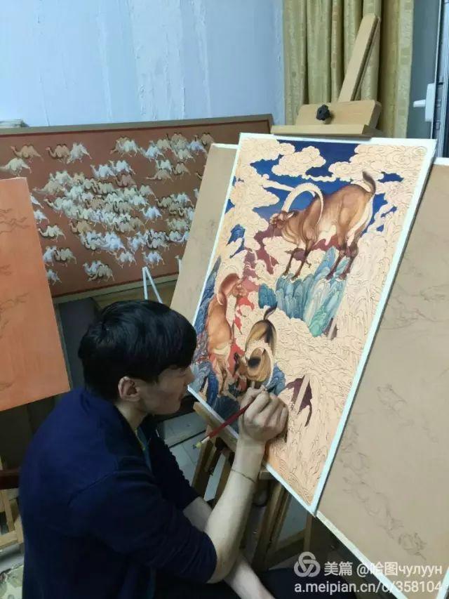 【文艺】蒙古国90后天才画家普日布苏仁作品欣赏(组图) 第59张