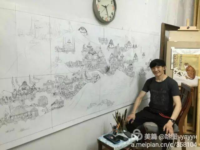 【文艺】蒙古国90后天才画家普日布苏仁作品欣赏(组图) 第83张