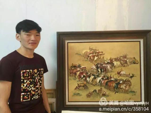 【文艺】蒙古国90后天才画家普日布苏仁作品欣赏(组图) 第95张