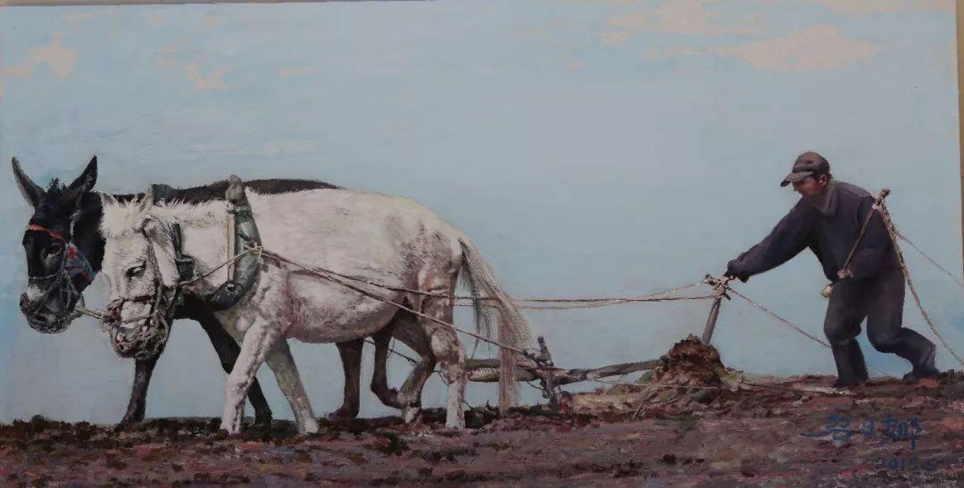 心灵深处的绿色草原 ——蒙古族画家乌日娜的油画 第12张