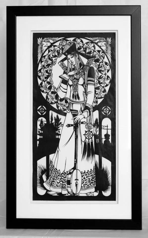 剪纸大师巴特尔朝格蒙古风作品欣赏 第3张 剪纸大师巴特尔朝格蒙古风作品欣赏 蒙古画廊