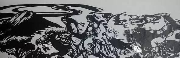 剪纸大师巴特尔朝格蒙古风作品欣赏 第8张 剪纸大师巴特尔朝格蒙古风作品欣赏 蒙古画廊