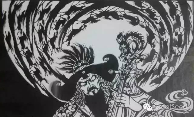 剪纸大师巴特尔朝格蒙古风作品欣赏 第5张 剪纸大师巴特尔朝格蒙古风作品欣赏 蒙古画廊