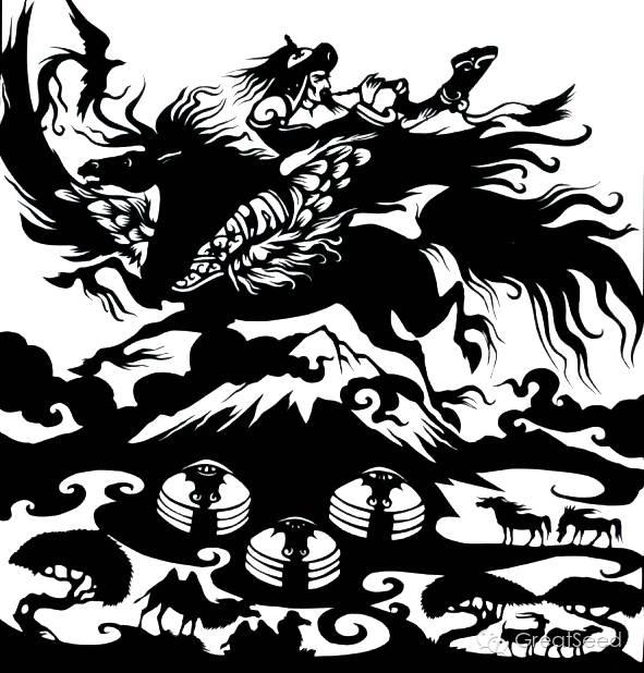 剪纸大师巴特尔朝格蒙古风作品欣赏 第7张 剪纸大师巴特尔朝格蒙古风作品欣赏 蒙古画廊