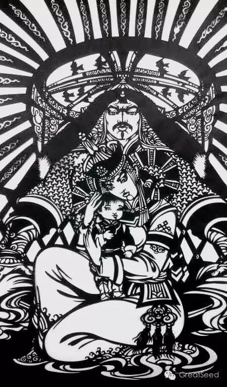 剪纸大师巴特尔朝格蒙古风作品欣赏 第12张 剪纸大师巴特尔朝格蒙古风作品欣赏 蒙古画廊