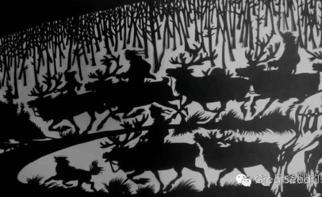 剪纸大师巴特尔朝格蒙古风作品欣赏 第14张 剪纸大师巴特尔朝格蒙古风作品欣赏 蒙古画廊