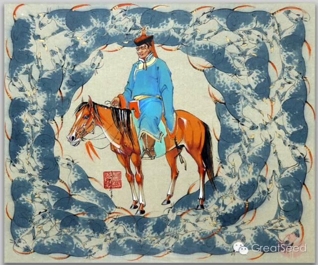 剪纸大师巴特尔朝格蒙古风作品欣赏 第21张 剪纸大师巴特尔朝格蒙古风作品欣赏 蒙古画廊