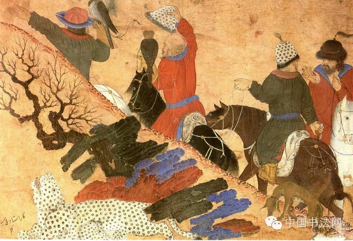 苍狼白鹿——看元代蒙古人的绘画作品 第8张 苍狼白鹿——看元代蒙古人的绘画作品 蒙古画廊