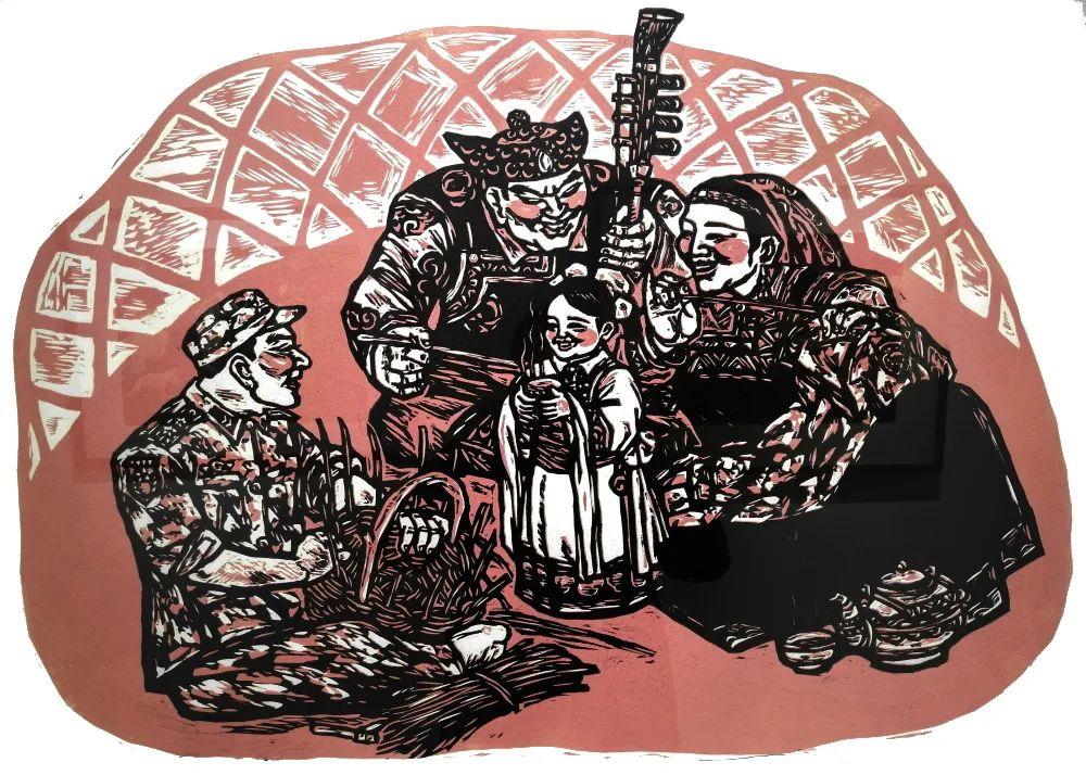 内蒙古通辽:刀笔刻画美好生活 助力脱贫攻坚 第3张 内蒙古通辽:刀笔刻画美好生活 助力脱贫攻坚 蒙古画廊