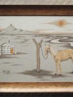 沙画家阿拉塔毕力格:一缕细沙演绎草原游牧生活 第20张
