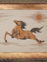 沙画家阿拉塔毕力格:一缕细沙演绎草原游牧生活 第23张