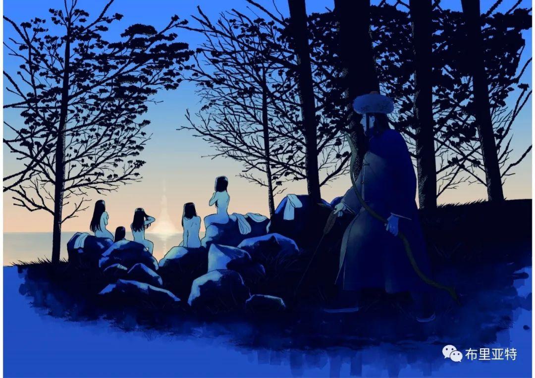 白鳥と狩人―ブリヤートの⺠話 / ᠬᠤᠨ ᠰᠢᠪᠠᠭᠤᠨ ᠤ ᠦᠯᠢᠭᠡᠷ ᠪᠤᠷᠢᠶᠠᠳ ᠤᠨ ᠠᠮᠠᠨ 第7张 白鳥と狩人―ブリヤートの⺠話 / ᠬᠤᠨ ᠰᠢᠪᠠᠭᠤᠨ ᠤ ᠦᠯᠢᠭᠡᠷ ᠪᠤᠷᠢᠶᠠᠳ ᠤᠨ ᠠᠮᠠᠨ ᠦᠯᠢᠭᠡᠷ 蒙古画廊