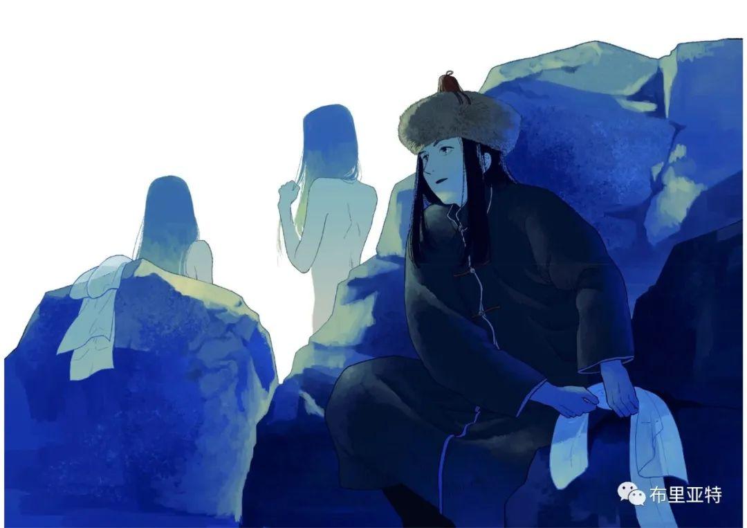 白鳥と狩人―ブリヤートの⺠話 / ᠬᠤᠨ ᠰᠢᠪᠠᠭᠤᠨ ᠤ ᠦᠯᠢᠭᠡᠷ ᠪᠤᠷᠢᠶᠠᠳ ᠤᠨ ᠠᠮᠠᠨ 第9张 白鳥と狩人―ブリヤートの⺠話 / ᠬᠤᠨ ᠰᠢᠪᠠᠭᠤᠨ ᠤ ᠦᠯᠢᠭᠡᠷ ᠪᠤᠷᠢᠶᠠᠳ ᠤᠨ ᠠᠮᠠᠨ ᠦᠯᠢᠭᠡᠷ 蒙古画廊