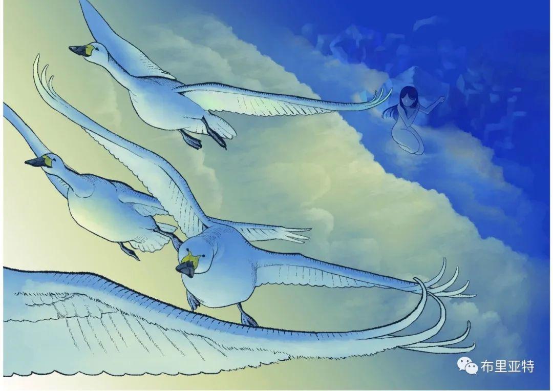 白鳥と狩人―ブリヤートの⺠話 / ᠬᠤᠨ ᠰᠢᠪᠠᠭᠤᠨ ᠤ ᠦᠯᠢᠭᠡᠷ ᠪᠤᠷᠢᠶᠠᠳ ᠤᠨ ᠠᠮᠠᠨ 第11张 白鳥と狩人―ブリヤートの⺠話 / ᠬᠤᠨ ᠰᠢᠪᠠᠭᠤᠨ ᠤ ᠦᠯᠢᠭᠡᠷ ᠪᠤᠷᠢᠶᠠᠳ ᠤᠨ ᠠᠮᠠᠨ ᠦᠯᠢᠭᠡᠷ 蒙古画廊