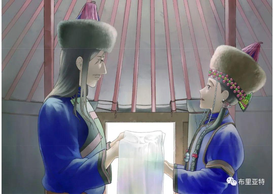 白鳥と狩人―ブリヤートの⺠話 / ᠬᠤᠨ ᠰᠢᠪᠠᠭᠤᠨ ᠤ ᠦᠯᠢᠭᠡᠷ ᠪᠤᠷᠢᠶᠠᠳ ᠤᠨ ᠠᠮᠠᠨ 第25张 白鳥と狩人―ブリヤートの⺠話 / ᠬᠤᠨ ᠰᠢᠪᠠᠭᠤᠨ ᠤ ᠦᠯᠢᠭᠡᠷ ᠪᠤᠷᠢᠶᠠᠳ ᠤᠨ ᠠᠮᠠᠨ ᠦᠯᠢᠭᠡᠷ 蒙古画廊