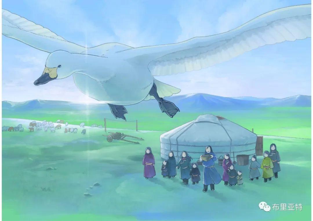 白鳥と狩人―ブリヤートの⺠話 / ᠬᠤᠨ ᠰᠢᠪᠠᠭᠤᠨ ᠤ ᠦᠯᠢᠭᠡᠷ ᠪᠤᠷᠢᠶᠠᠳ ᠤᠨ ᠠᠮᠠᠨ 第31张 白鳥と狩人―ブリヤートの⺠話 / ᠬᠤᠨ ᠰᠢᠪᠠᠭᠤᠨ ᠤ ᠦᠯᠢᠭᠡᠷ ᠪᠤᠷᠢᠶᠠᠳ ᠤᠨ ᠠᠮᠠᠨ ᠦᠯᠢᠭᠡᠷ 蒙古画廊