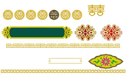 蒙古族花纹底纹图案 古典圆形镂空中式边框素材AI矢量 第19张