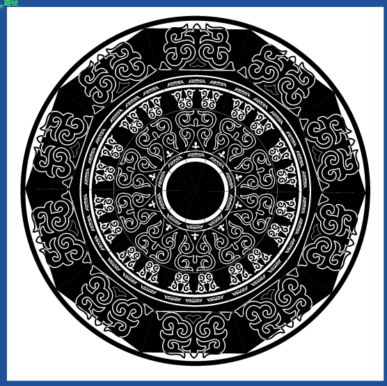 蒙古族花纹底纹图案 古典圆形镂空中式边框素材AI矢量 第15张
