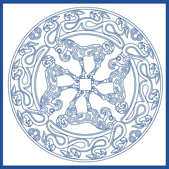 蒙古族花纹底纹图案 古典圆形镂空中式边框素材AI矢量 第18张