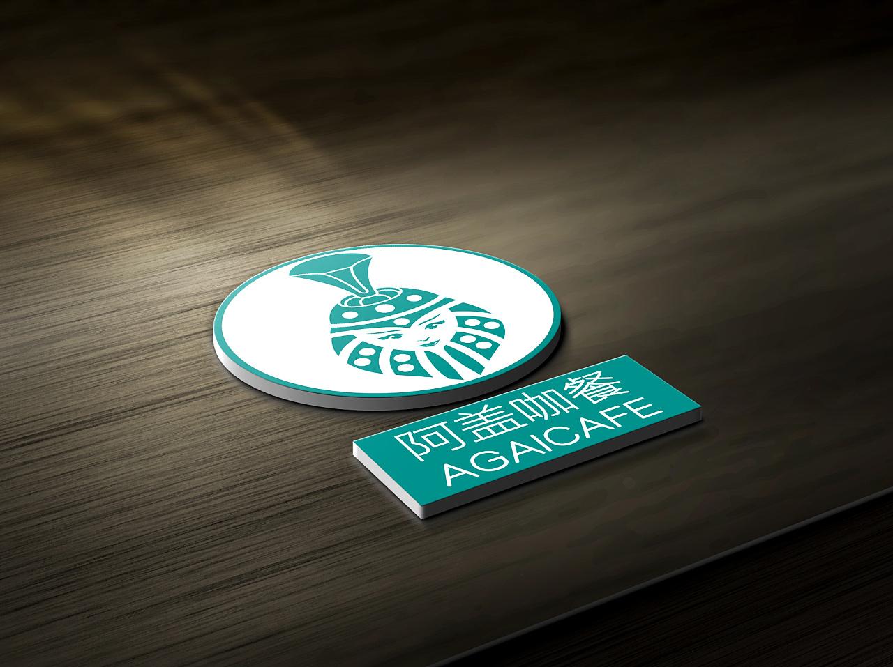 阿盖咖餐-蒙古特色logo设计 第2张