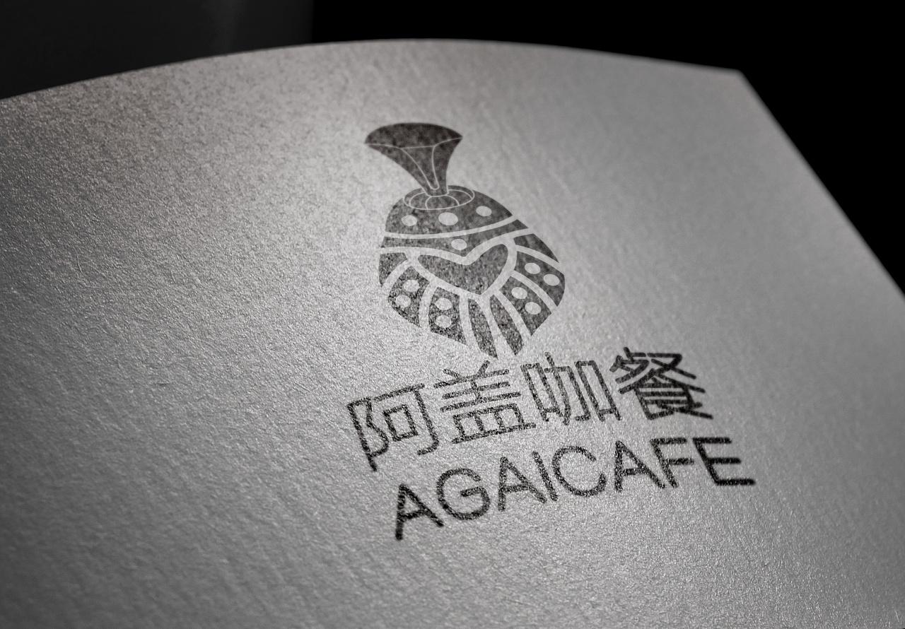 阿盖咖餐-蒙古特色logo设计 第5张