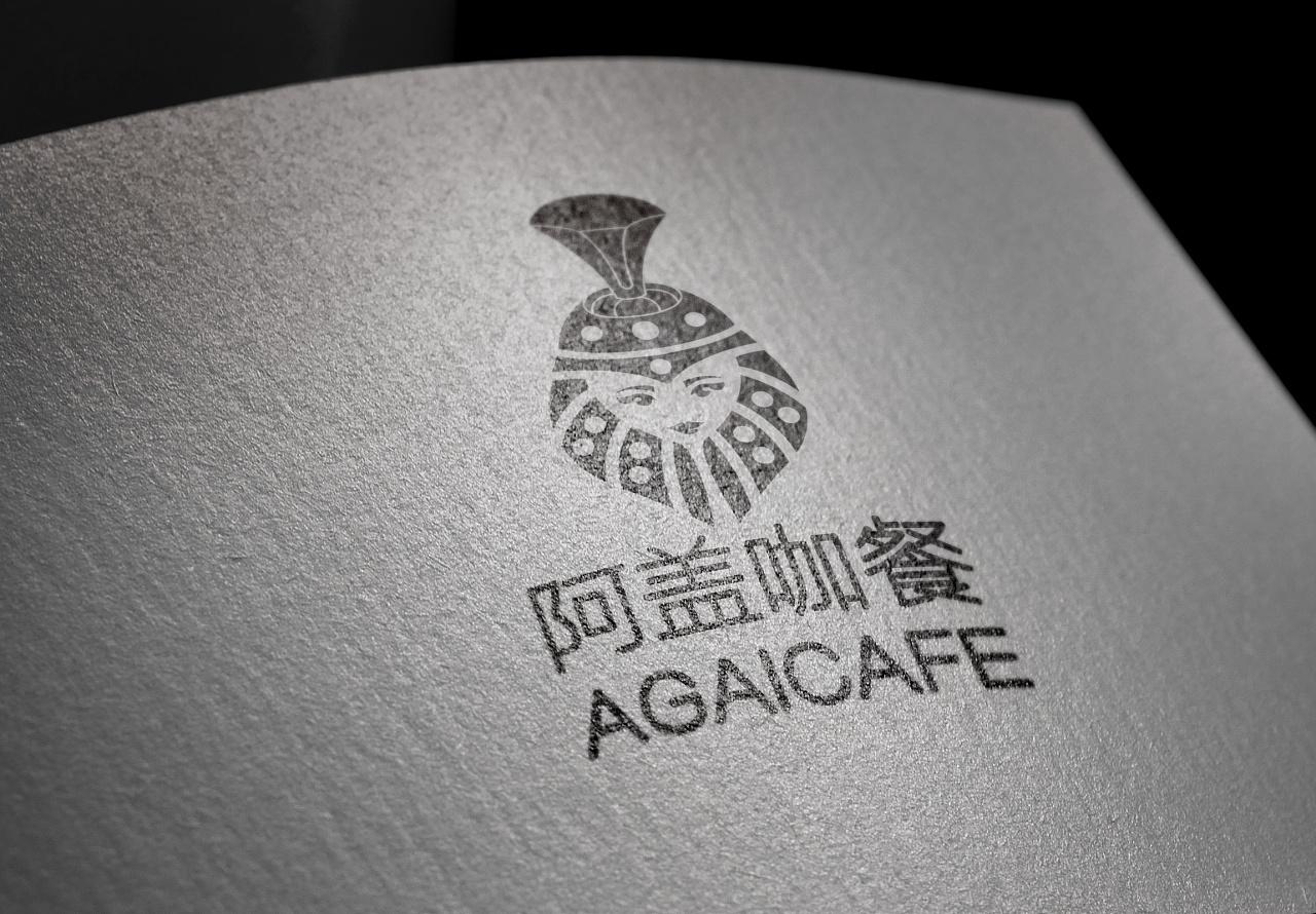 阿盖咖餐-蒙古特色logo设计 第4张