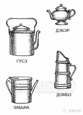 布里亚特服饰传统工具图解大全 第16张 布里亚特服饰传统工具图解大全 蒙古服饰