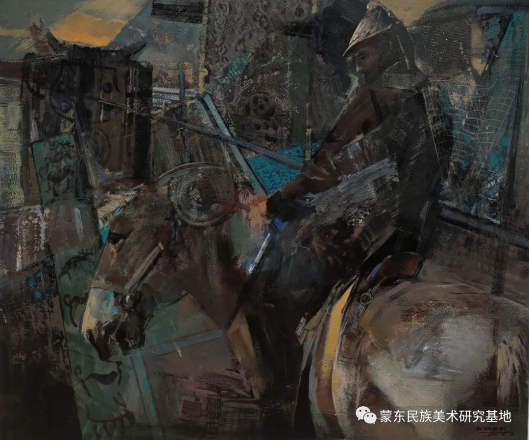 包胡其图油画作品——中国少数民族美术促进会,蒙东民族美术研究基地画家系列 第11张 包胡其图油画作品——中国少数民族美术促进会,蒙东民族美术研究基地画家系列 蒙古画廊