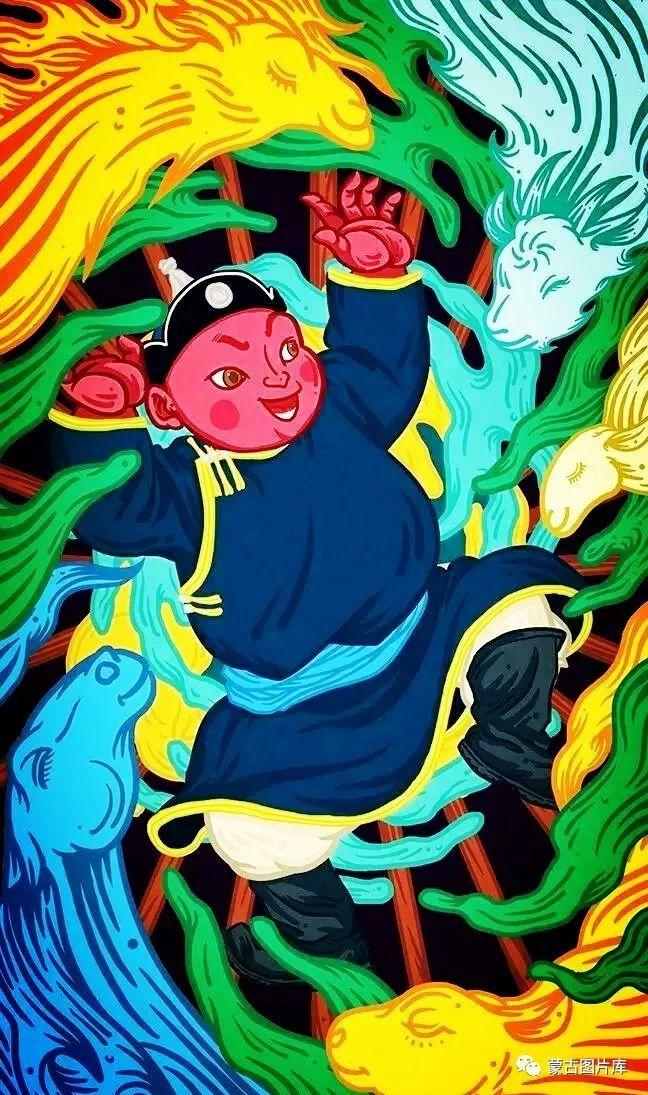 【蒙古图片】一组蒙古插画屏保,绝对独一无二! 第2张 【蒙古图片】一组蒙古插画屏保,绝对独一无二! 蒙古画廊