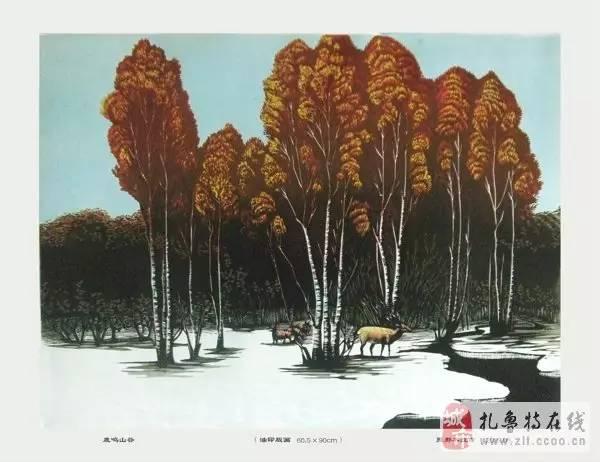 ? 扎鲁特版画艺术传承人特·照那木拉作品欣赏~~有一种草原的味道~ 第2张