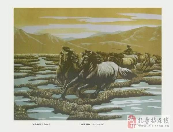 ? 扎鲁特版画艺术传承人特·照那木拉作品欣赏~~有一种草原的味道~ 第7张