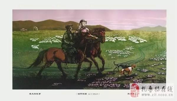 ? 扎鲁特版画艺术传承人特·照那木拉作品欣赏~~有一种草原的味道~ 第5张