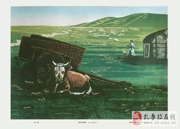 ? 扎鲁特版画艺术传承人特·照那木拉作品欣赏~~有一种草原的味道~ 第16张