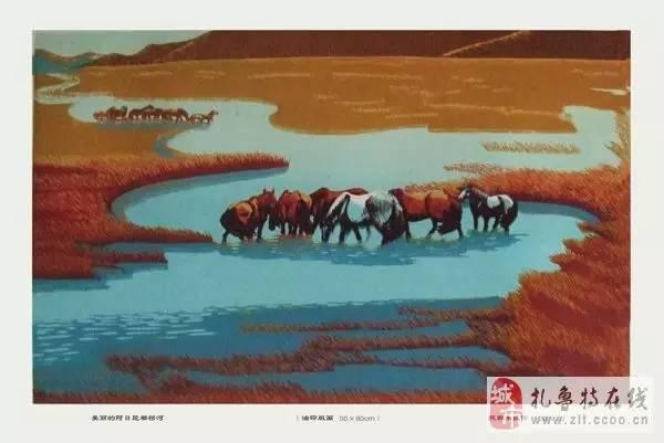 ? 扎鲁特版画艺术传承人特·照那木拉作品欣赏~~有一种草原的味道~ 第14张