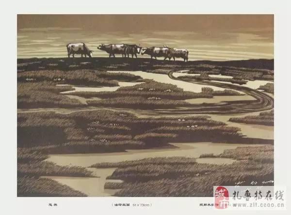 ? 扎鲁特版画艺术传承人特·照那木拉作品欣赏~~有一种草原的味道~ 第20张