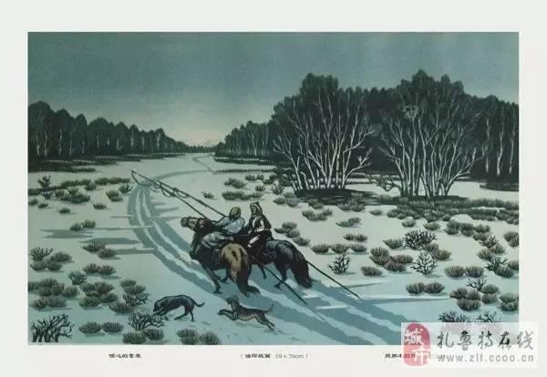 ? 扎鲁特版画艺术传承人特·照那木拉作品欣赏~~有一种草原的味道~ 第17张