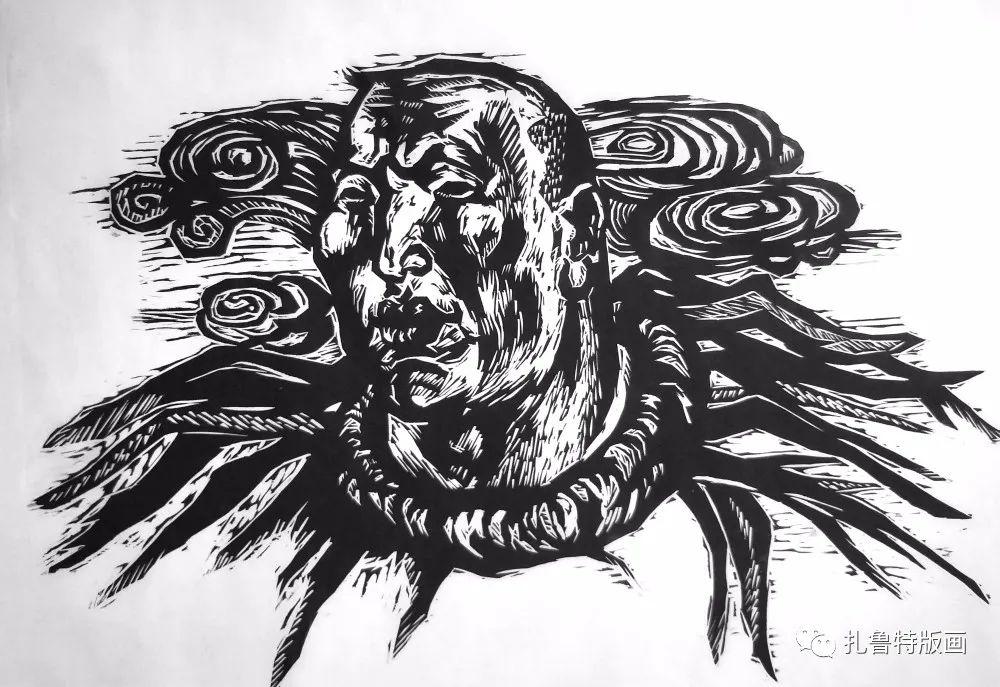 哈斯高娃版画作品欣赏 第9张