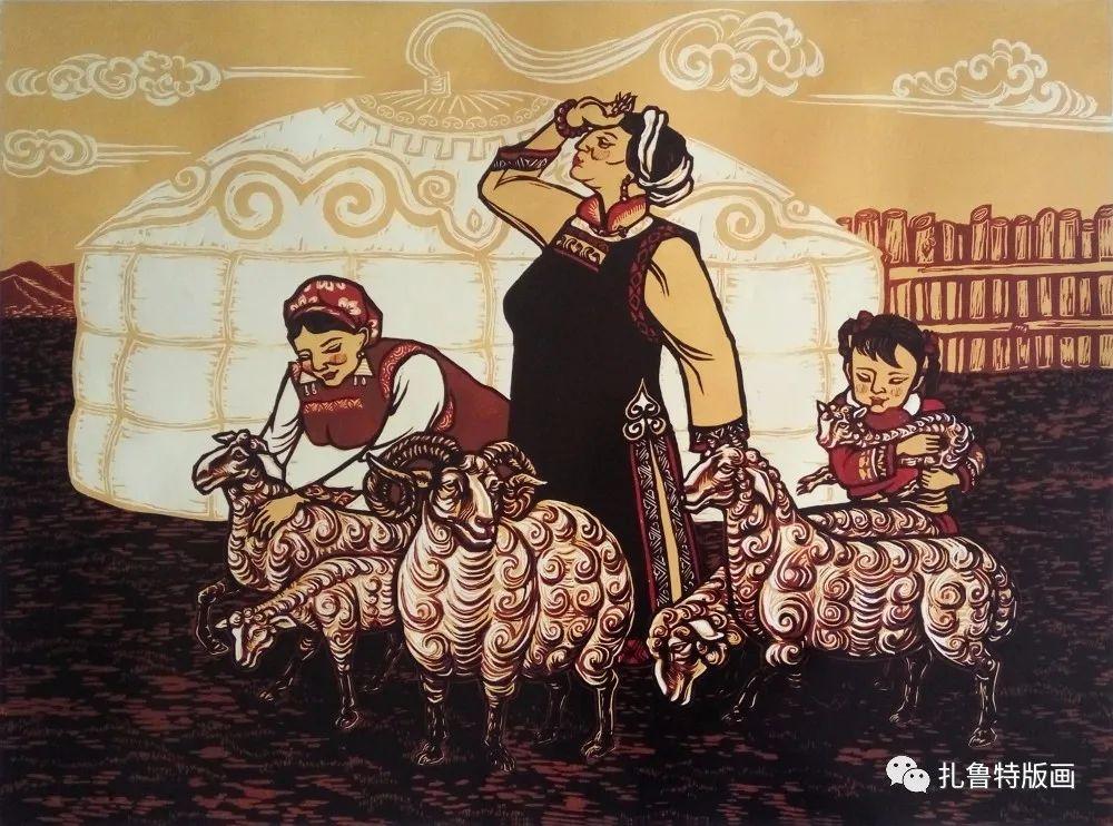 哈斯高娃版画作品欣赏 第10张