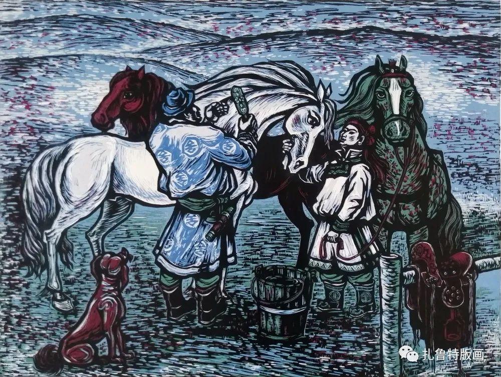 哈斯高娃版画作品欣赏 第17张