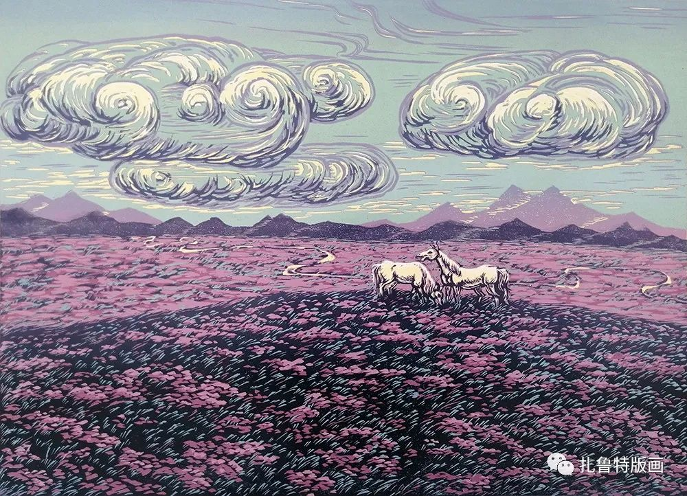 哈斯高娃版画作品欣赏 第19张