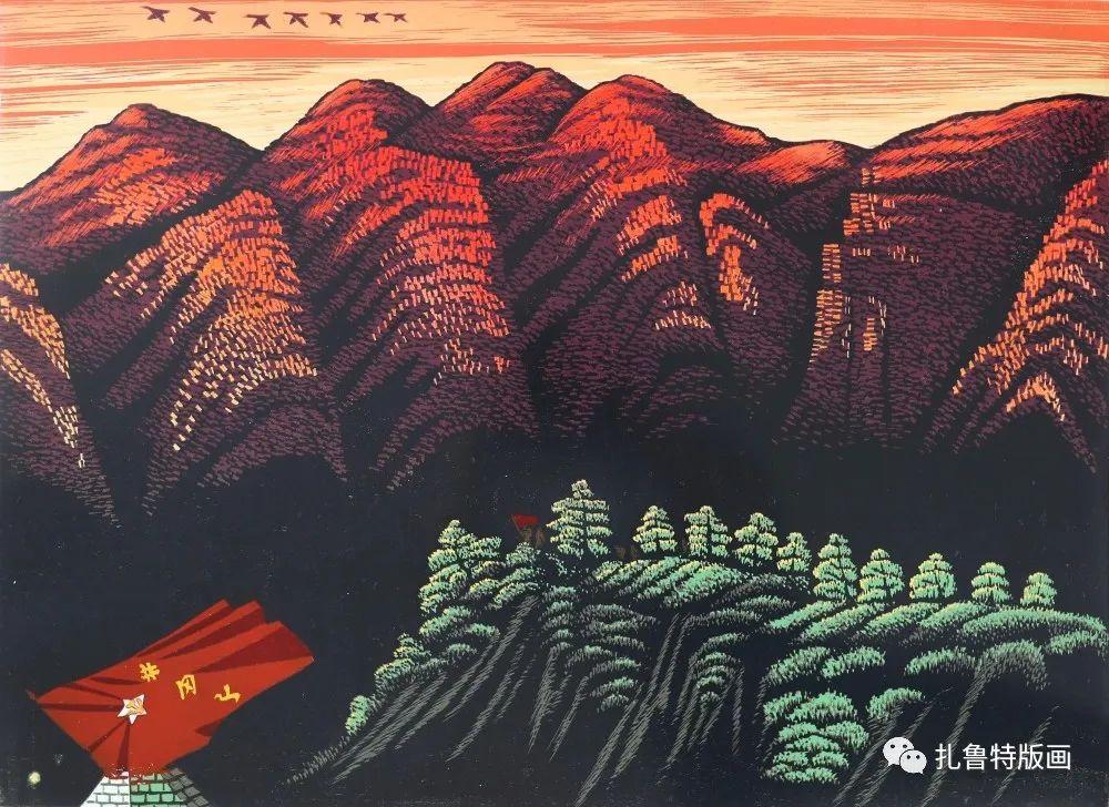 扎鲁特旗牧民版画家照那木拉作品欣赏 第2张