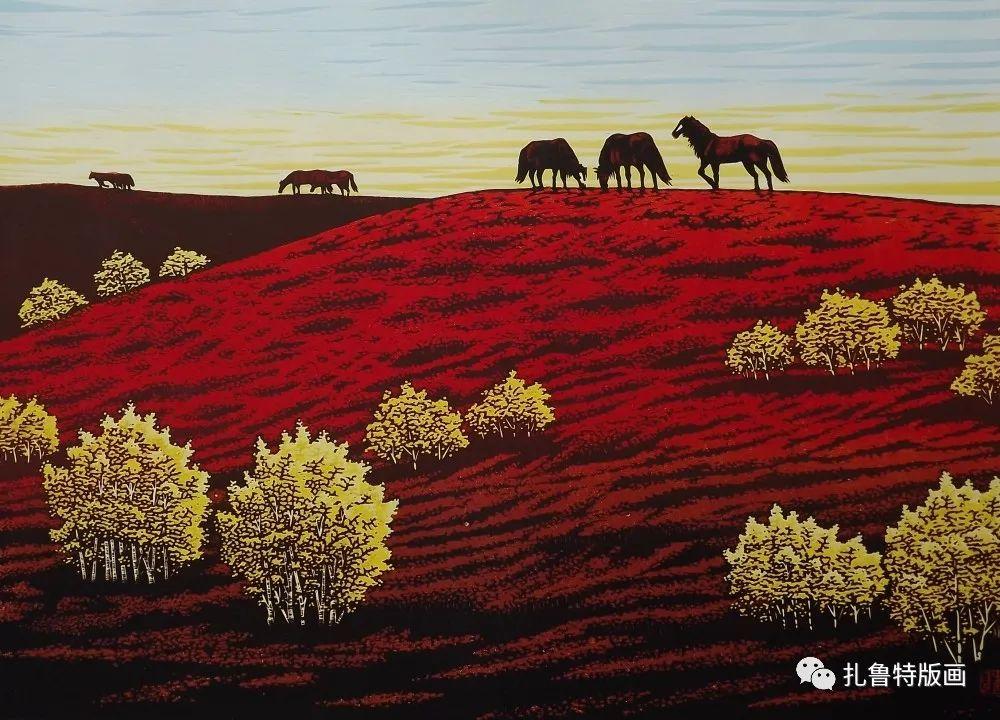 扎鲁特旗牧民版画家照那木拉作品欣赏 第8张