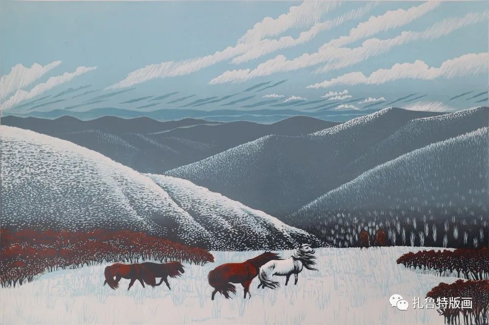 扎鲁特旗牧民版画家照那木拉作品欣赏 第9张